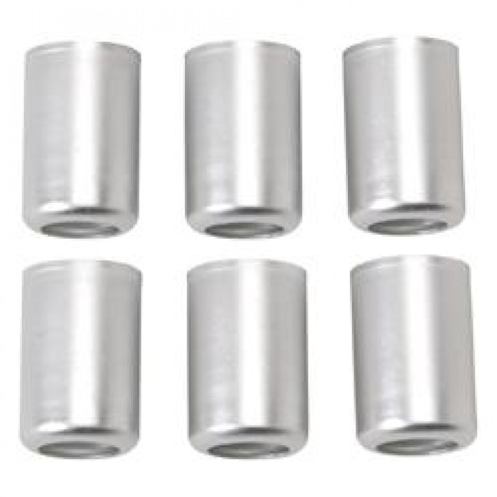 Russell Performance 610393 - Crimp-On Crimp Collar #12 Clear Anodized (6 pcs)