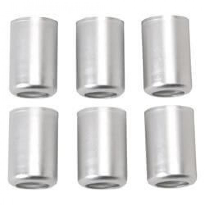 Russell Performance 610383 - Crimp-On Crimp Collar #10 Clear Anodized (6 pcs)