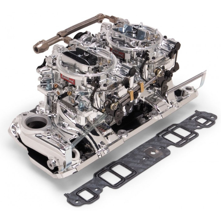 Edelbrock 20254 - Performer RPM Dual Quad Air-Gap Manifold and Carburetor Kits